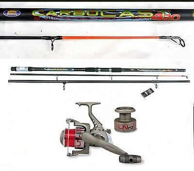 Lineaeffe Carbocast beachcaster/surf rod 14ft & LS70 reel + line & spare spool