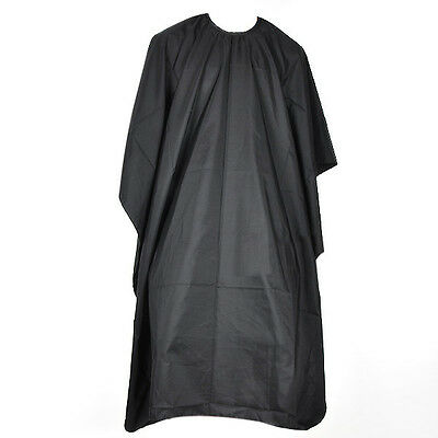 Black Unisex Adults Hair Salon Hairdressing Cutting Cape Cover Barbers Gown Uk