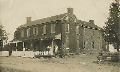 People Posing For The Camera In Front Of House & Original Vintage Photo