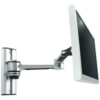 Atdec Visidec VF-AT-W Focus Articulated Arm LCD Monitor Wall Mount Polish Silver