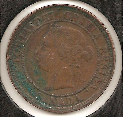 1882 H, Obverse 1-a, FINE Canadian Large Cent #3 (corrosion)