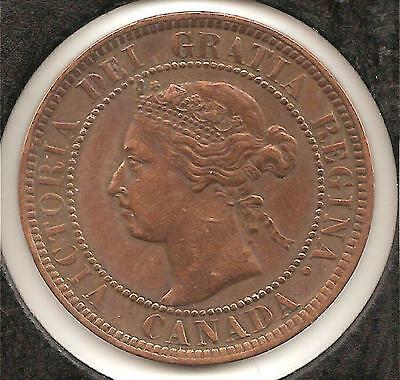1901 ABOUT UNCIRCULATED Canadian Large Cent #1 (cleaned) Reduced!