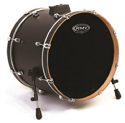 RMV Bass Drum Fell FX -Black Single-Ply w/Ring 20""