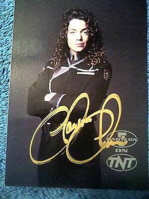Babylon 5 1997 Promotional TNT Postcard Autographed by Claudia Christian-Gold