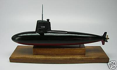 USS Scamp SSN-588 Navy Handcrafted Wood Model Submarine