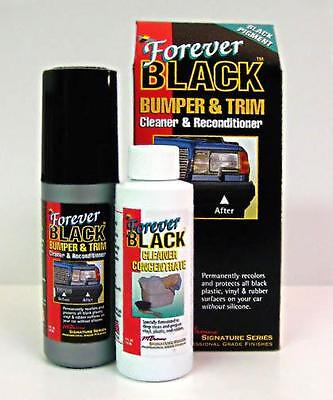 Forever Black Bumper & Trim Dye Kit Restore Faded Bumpers & Vinyl or Rubber