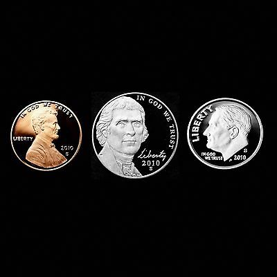 2010 S Lincoln Shield ~ 2010 S Jefferson ~ 2010 S Roosevelt Clad ~ All Gem Proof