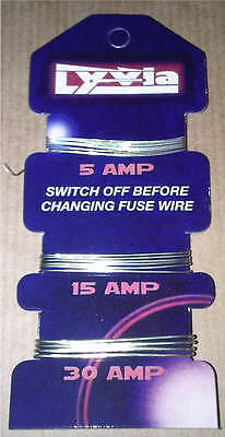 Fuse Wire Card of  5A 15A 30A Consumer Fusewire for Fuse Boxes