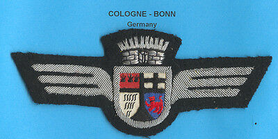 Germany Cologne - Bonn Airport Service Wings Patch