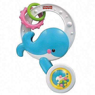 BABY BATHTUB TOY 6M+ SPILL & SPIN WHALE Fisher Price Precious Planet Infant NEW