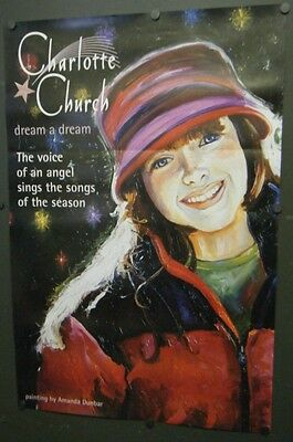 Charlotte Church Double Sided Promo Poster Dream A Dream 2000 Christmas Album