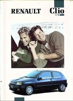 Renault Clio 16V  Very Oversized Sales Brochure 1991 1992