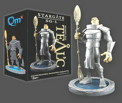 """Stargate SG-1 Teal'c Animated Maquette- 9"""" Hero Sized-QMX- Mint in Box-$90 Value"""