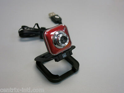 Red USB WebCam with Microphone 8 MP MegaPixel 30 FPS High Resolution