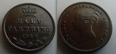 Nice Collectable 1843  Queen Victoria Half Farthing coin, Possible EF ?