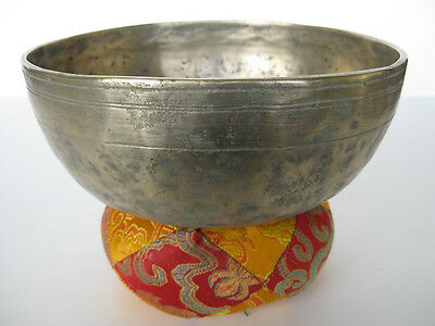 "Tibetan Singing Bowl ~ 8"" ED Himalayan bell, unique art"