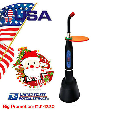 Black Dentist Dental Wireless Cordless LED Curing Light Lamp 10W 2000MW *USA*