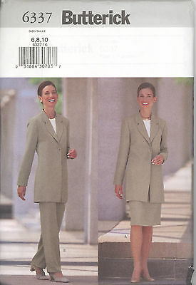 Butterick 6468 Misses/'//Miss Petite Jacket Skirt /& Pants 6,8,10  Sewing Parttern
