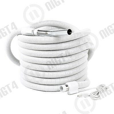 NEW Aspirateur Central Vacuum 35' foot Pigtail Crush-Proof Electric Hose