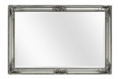 """ANTIQUE SILVER ORNATE EXTRA LARGE WALL MIRROR - 30"""" x 42"""" (75cm x 105cm)"""