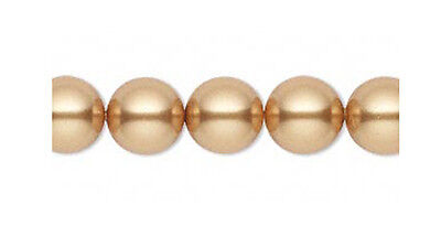 J84//6 4mm Swarovski Crystal Glass Pearl Beads 5810 Bright Gold Pack of 50