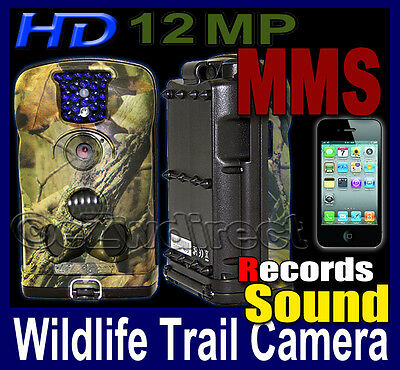 New Ltl Acorn 12MP Trail Hunting HD video Records Sound security MMS SMS Mobile