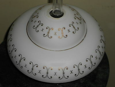 Vintage Art Deco Glass Frosted Ceiling Light Fixture Shade