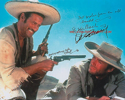 Clint Eastwood - Signed RP 8x10 Photo THE GOOD THE BAD THE UGLY Autographed