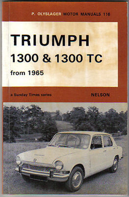Triumph 1300 + 1300TC from 1965 Olyslager Motor Manual