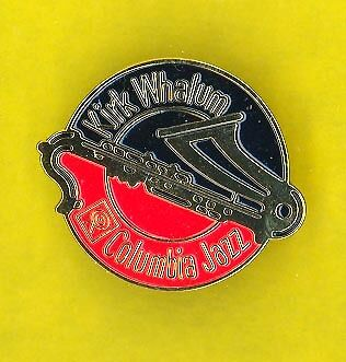 Kirk Whalum 1989 usa OFFICIAL JAZZ  ENAMEL CLUTCHPIN badge button pinback JJ