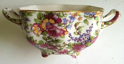 """""""Summertime"""" Open Sugar Bowl with Handles ~ England BEAUTIFUL!"""