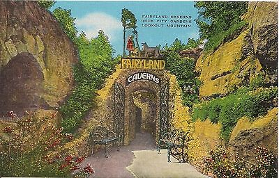 Fairyland Caverns Rock City Gardens Postcard Lot