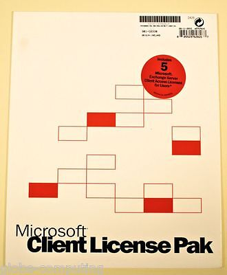 381-02008 Microsoft Exchange Server 2003 5 User CAL Client Acces Licenses