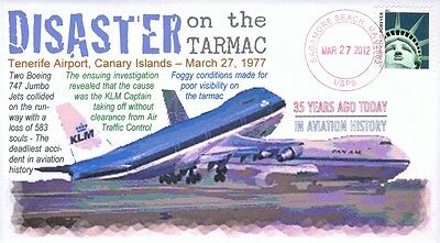 """COVERSCAPE computer designed """"Disaster on the Tarmac"""" 35th anniversary cover"""