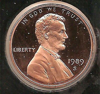 1989 S PROOF Lincoln Cent #1