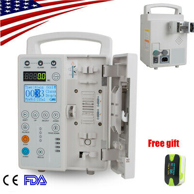 Medical IV Fluid Infusion Pump Audible Visual Alarm Veterinary Human100%Warranty