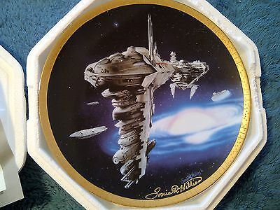 Star Wars Hamilton Plate: Medical Frigate Signed by Artist Sonia Hillios