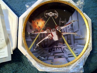 Star Wars Hamilton Plate: X-Wing Signed by Artist Sonia Hillios