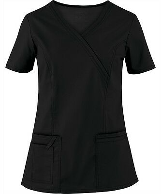 Scrubs Cherokee Workwear Core Stretch Top 4728 Black  FREE SHIPPING!