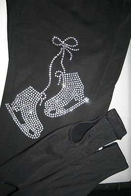 With Crystals Stirup Over The Boot Ice Skating Leggings Warm And Water Resistant