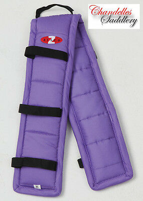 ZILCO PURPLE PUFFA  PAD Carriage Driving Harness Saddle Pads Liner ALL SIZEZ