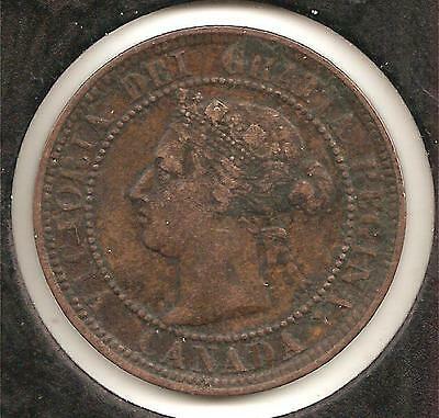 1886, Obverse 2, EXTREMELY FINE Canadian Large Cent #3 (corrosion)