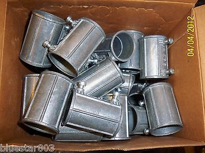 "Lot Of Fifty 1"" EMT Set Screw Coupling By Madison L-126 Concrete Tight"