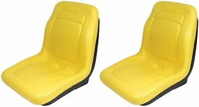 "Two 2 18""  Yellow Seats For John Deere Gator 4X4 4X2 4X6"