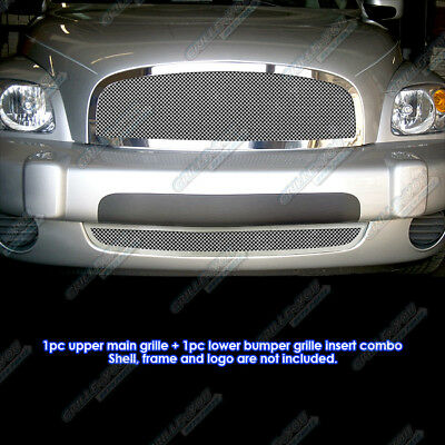 Fits 2006-2011 Chevy HHR Stainless Steel Mesh Grille Grill Combo Insert