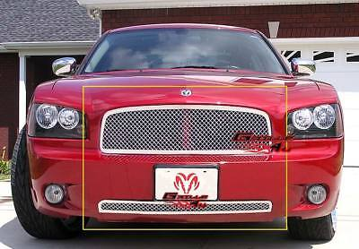 Fits 05-10 Dodge Charger Stainless Steel Mesh Grille Combo