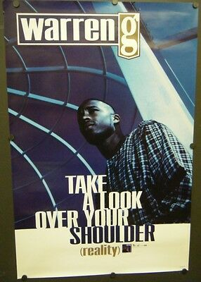 Warren G Promo Poster Take A Look Over Your Shoulder 1997 Reality Smokin' Me Out