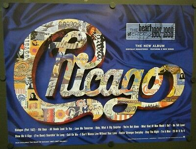 CHICAGO PROMO POSTER THE HEART OF CHICAGO VOLUME II 1967-1998 PETER CETERA
