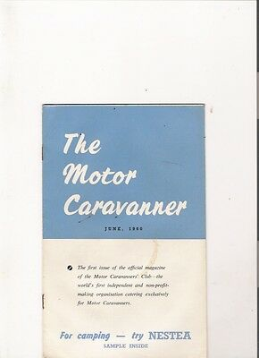 THE MOTOR CARAVANNER MAGAZINE - First Ever Issue, June 1960 jm
