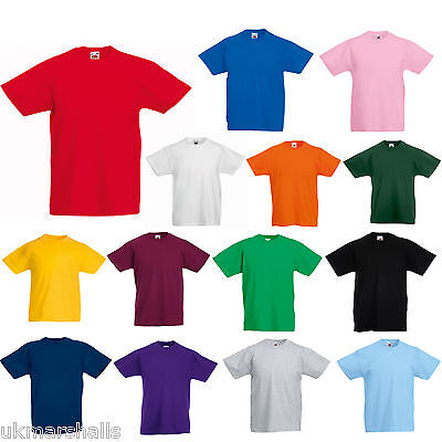 FOTL Childrens T Shirt Plain 100% Cotton Blank Kids Tee Shirt 12 Cols All Ages